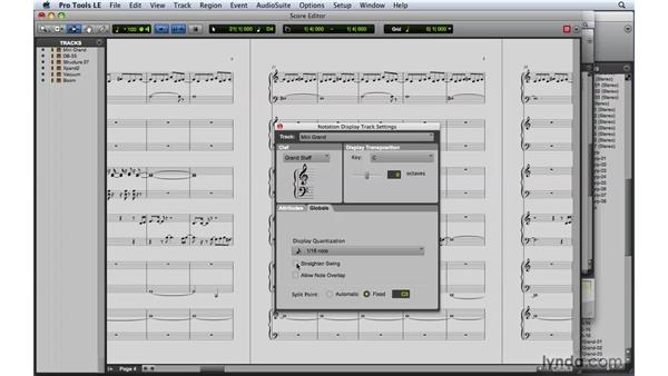 Setting up a score: Pro Tools 8 Essential Training
