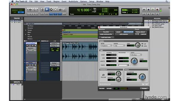 Utilizing the Time Shift plug-in: Pro Tools 8 Essential Training