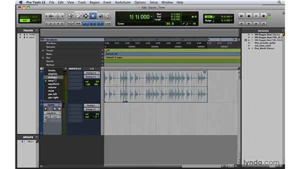 Editing with Elastic Time: Pro Tools 8 Essential Training