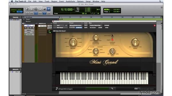 Working with Mini Grand: Pro Tools 8 Essential Training