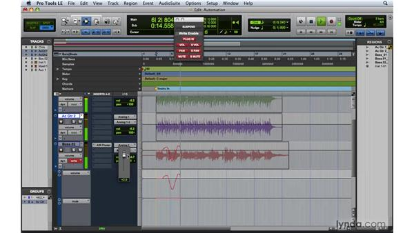 Writing and editing automation: Pro Tools 8 Essential Training
