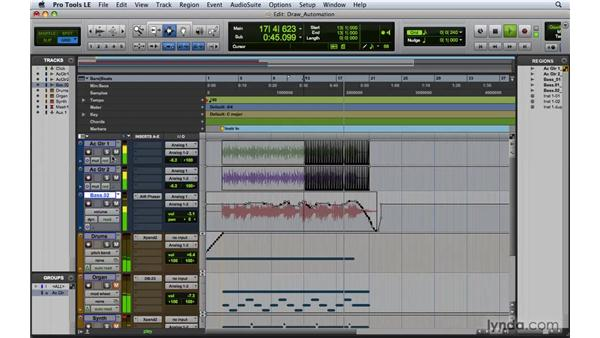 Drawing automation with the Pencil tool: Pro Tools 8 Essential Training