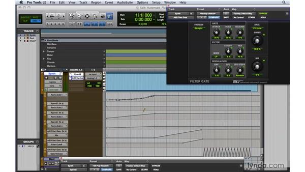 Automating plug-ins and virtual instruments: Pro Tools 8 Essential Training
