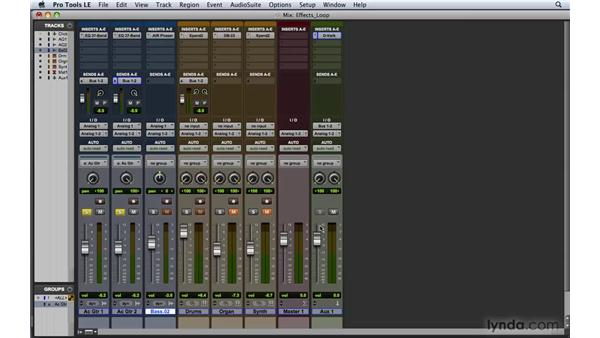 Setting up an effects loop: Pro Tools 8 Essential Training