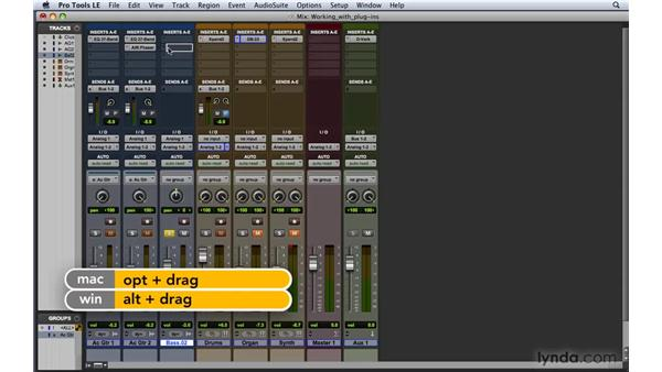 Working with plug-ins: Pro Tools 8 Essential Training