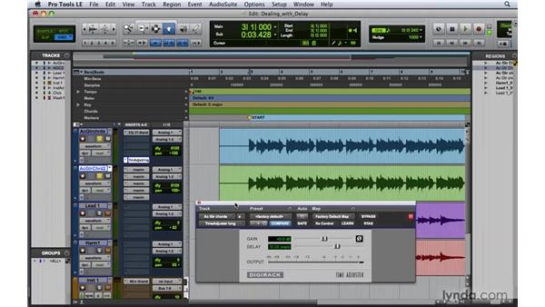 Dealing with delay compensation: Pro Tools 8 Essential Training