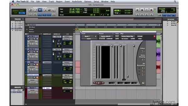 Applying limiters: Pro Tools 8 Essential Training