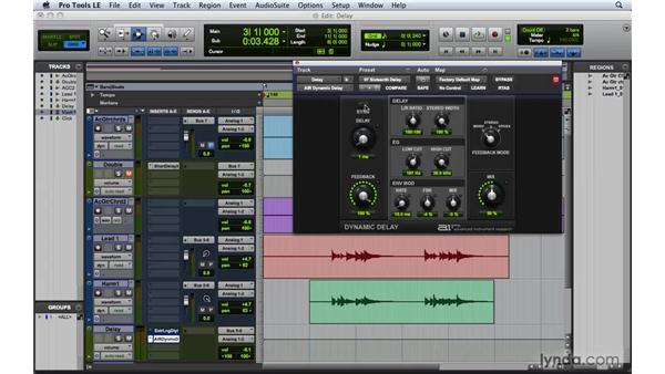 Adding delay: Pro Tools 8 Essential Training