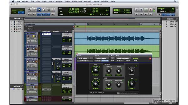 Utilizing modulation effects: Pro Tools 8 Essential Training