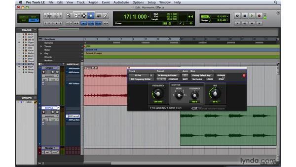 Adding harmonic effects: Pro Tools 8 Essential Training