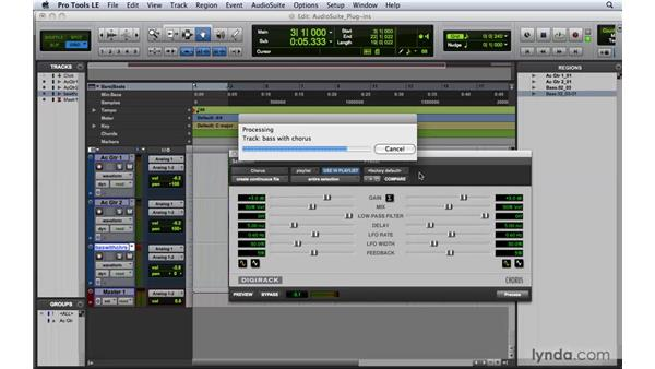 Applying AudioSuite plug-ins: Pro Tools 8 Essential Training