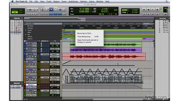 Bouncing down a mix: Pro Tools 8 Essential Training