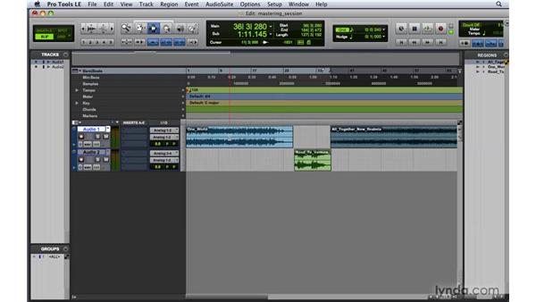 Setting up a session for mastering: Pro Tools 8 Essential Training