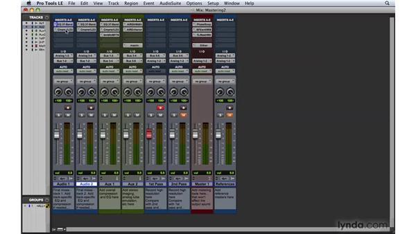Using plug-ins for mastering: Pro Tools 8 Essential Training