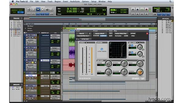 Using Gates and Expanders: Pro Tools 8 Essential Training