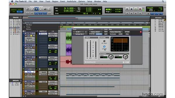 Working with De-Essers: Pro Tools 8 Essential Training