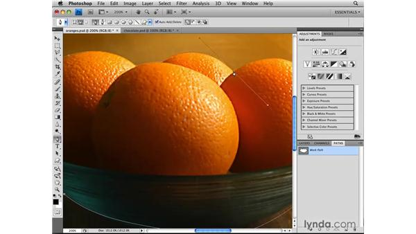 Selecting with the Pen tool and paths: Photoshop CS4: Selections in Depth