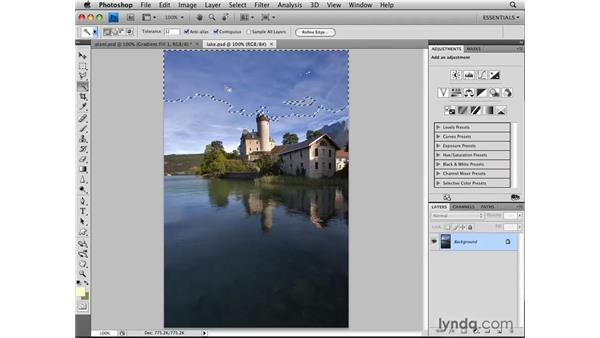 Using the Magic Wand tool: Photoshop CS4: Selections in Depth