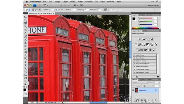 Selecting edges with the Magnetic Lasso tool: Photoshop CS4: Selections in Depth