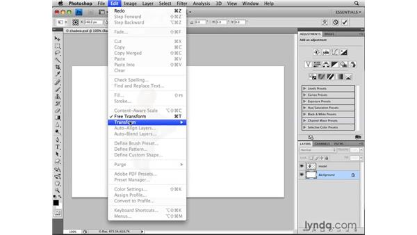 Selecting layer transparency: Photoshop CS4: Selections in Depth