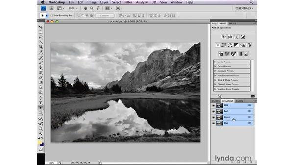 Selecting image luminosity: Photoshop CS4: Selections in Depth