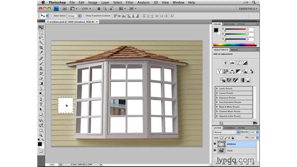 Moving selections: Photoshop CS4: Selections in Depth