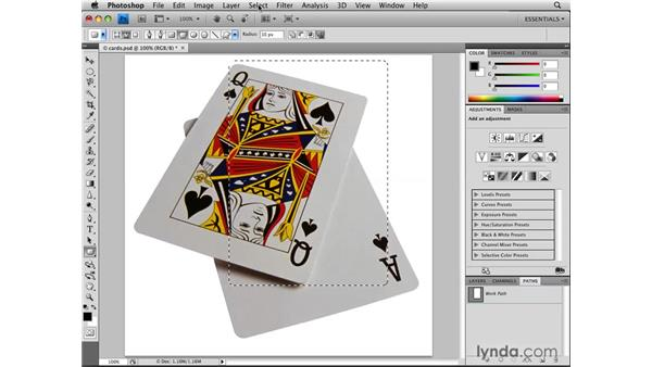 Using contextual commands for transformation: Photoshop CS4: Selections in Depth