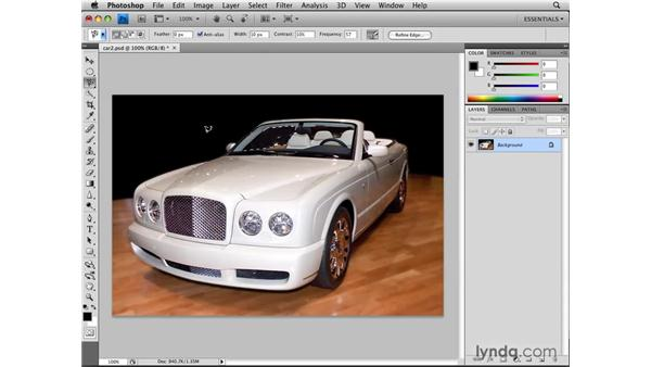 Loading and modifying saved selections: Photoshop CS4: Selections in Depth