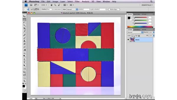 Adding, subtracting, and intersecting selections: Photoshop CS4: Selections in Depth