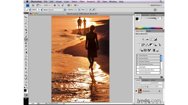 Changing Quick Mask options: Photoshop CS4: Selections in Depth