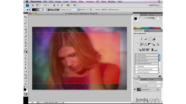 Varying edge softness in Quick Mask: Photoshop CS4: Selections in Depth
