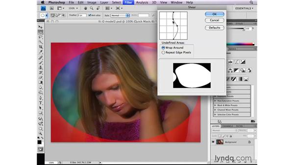 Filtering selections in Quick Mask: Photoshop CS4: Selections in Depth