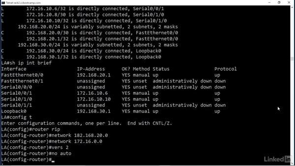 Configure RIPv2: Cert Prep: Cisco Certified Entry Networking Technician (100-105)