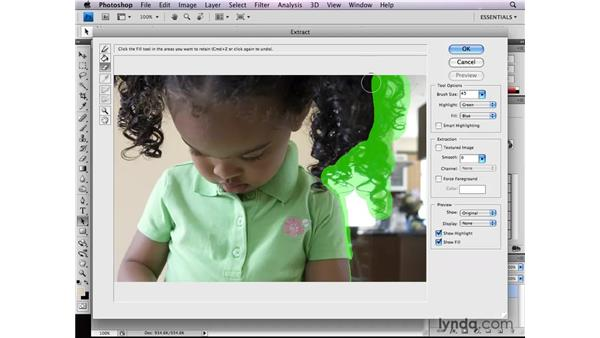 Using the Extract filter: Photoshop CS4: Selections in Depth