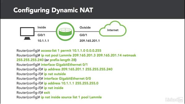 Dynamic NAT: Cert Prep: Cisco Certified Entry Networking Technician (100-105)