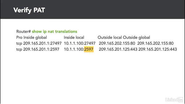 NAT overload (PAT): Cert Prep: Cisco Certified Entry Networking Technician (100-105)