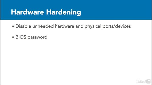 Server hardening: Foundations of Servers
