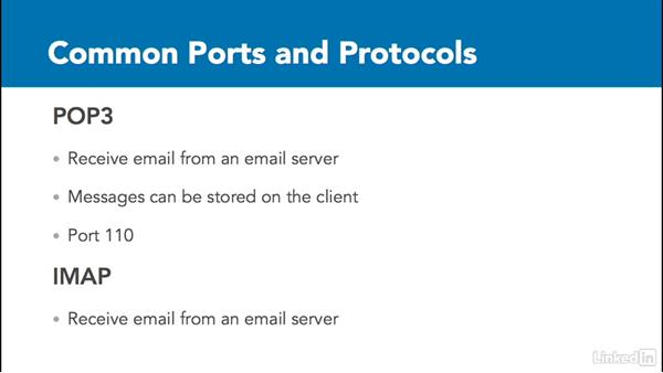 Common ports and protocols: Foundations of Servers