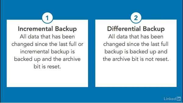 Backup techniques: Foundations of Servers