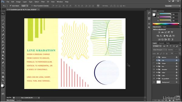 Using gradation to create perspective: Design Aesthetics for the Web