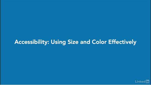 Accessibility: Using size and color: Design Aesthetics for the Web