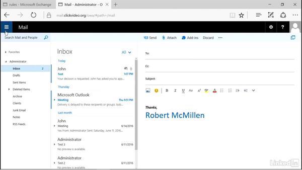 Configure mailbox folder permissions: Microsoft Exchange Server 2016 Administration