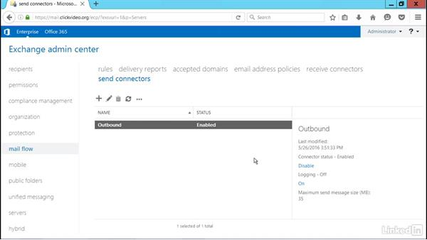 Manage Send and Receive connectors: Microsoft Exchange Server 2016 Administration
