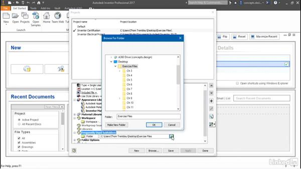Overview of project files: Cert Prep: Autodesk Inventor Certified Professional