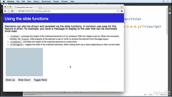 Sliding elements: jQuery Essential Training