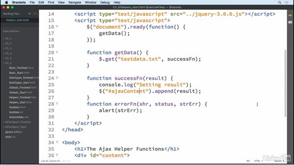 Convenience functions: jQuery Essential Training