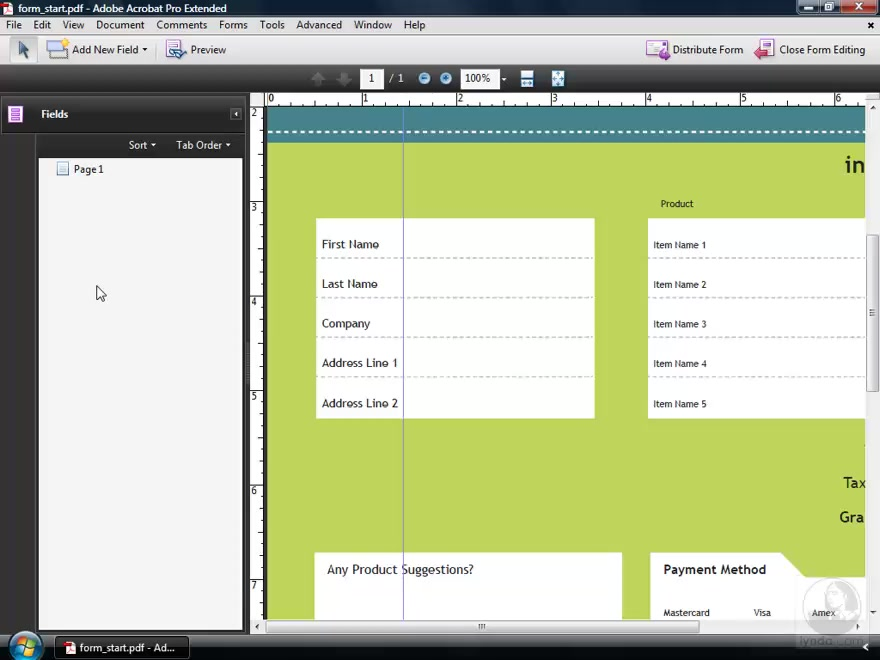 Creating form fields from scratch