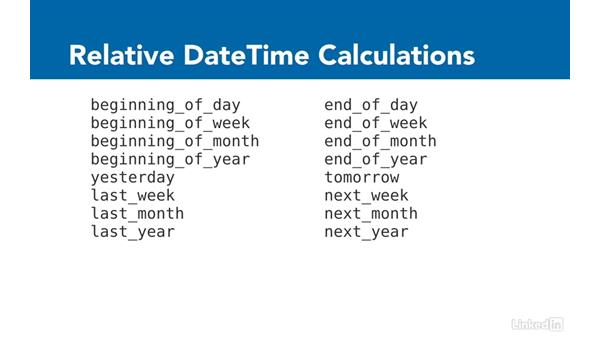 Date and time helpers