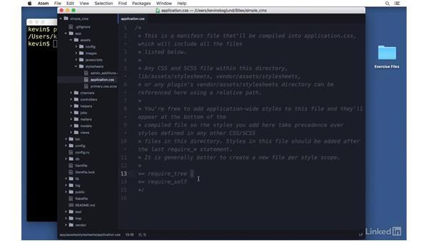 Stylesheets: Ruby on Rails 5 Essential Training
