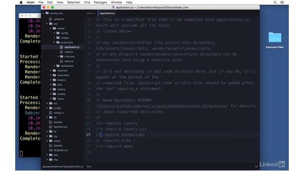 JavaScript: Ruby on Rails 5 Essential Training